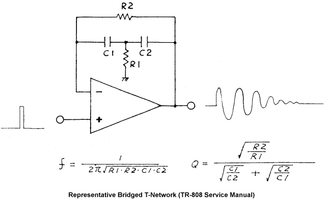 Bridged T-Network from TR-808 Service Manual