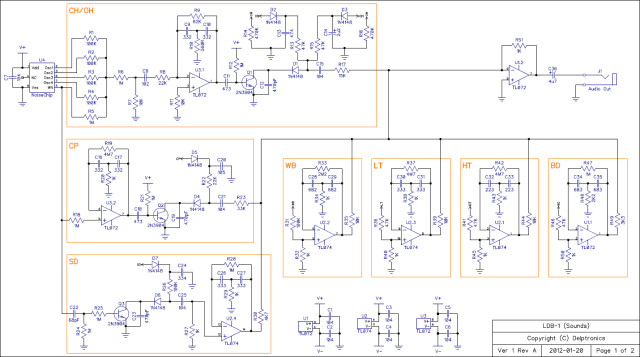 LDB-1 Drum Machine Schematic PDF